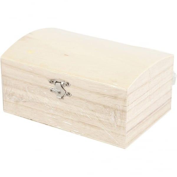 Schatkist hout, afm 16,5x11x8,55 cm