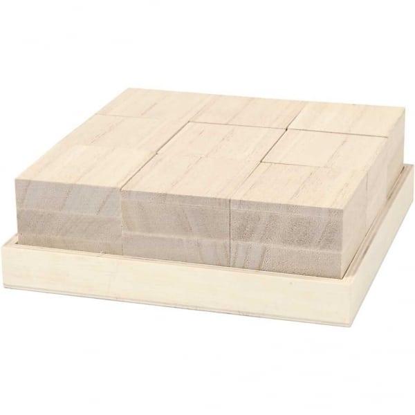 Houten Blokken 4x4 cm