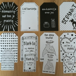 Stickers en kaartjes