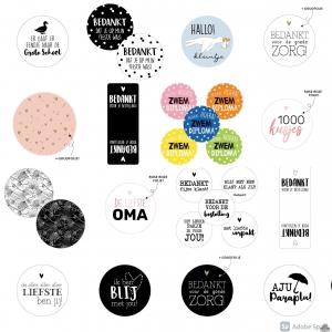 Stickers op de rol